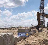 إسرائيل تقيم جدار مع غزة في المكان الذي دخل منه الأسير الاثيوبي لدى القسام