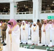 بكاء امام الحرمين خلال صلاة عيد الفطر