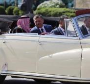 السيارة التي استقلها الملك سلمان في الأردن
