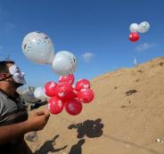 وحدة البالونات الحارقة في غزة
