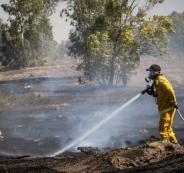 اشتعال النيران في مستوطنات غلاف غزة
