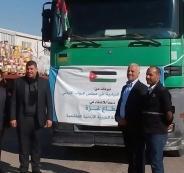 قافلة مساعدات اردنية الى قطاع غزة