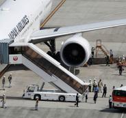 طائرة ركاب تهبط اضطراريا بسبب اطلاق الريح
