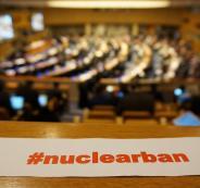 فلسطين توقع على اتفاقية حظر الأسلحة النووية