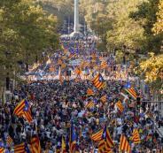 تظاهرات في كتالونيا ضد الحكومة الإسبانية