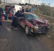حوادث سير في الضفة الغربية