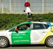 سيارة جوجل في رام الله