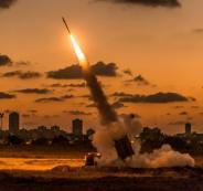اطلاق صواريخ من قطاع غزة