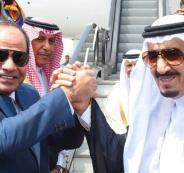 العاهل السعودي وعبد الفتاح السيسي