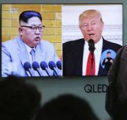 كيم والزعيم الكوري ترامب