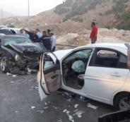 حوادث السير في الضفة الغربية