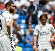 لاعبو ريال مدريد عقب الخسارة من ريال بيتيس