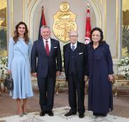 الملك عبد الله في تونس