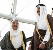 امير الكويت وامير قطر