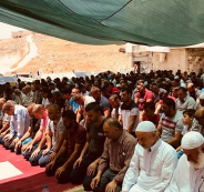 إقامة صلاة الجمعة بواد الحمص رفضاً لقرارات الهدم