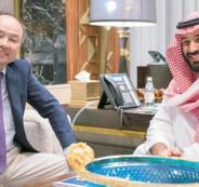 محمد بن سلمان وملياردير ياباني