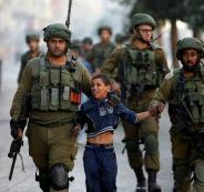 اعتقال اطفال فلسطينين في الخليل