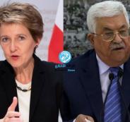 عباس ورئيسة سويسرا