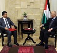رامي الحمد الله والسفير التونسي لدى فلسطين