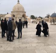 محاصرة مسجد قبة الصخرة المشرفة