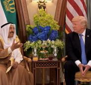 أمير الكويت يلتقي ترامب في واشنطن