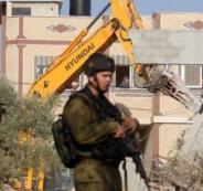 الجيش الاسرائيلي وهدم في بيت لحم