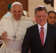 الملك الاردني وبابا الفاتيكان