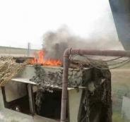حرق موقع اسرائيلي شمال قطاع غزة