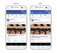 فيسبوك تحدث تصميمها