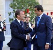 امير قطر والرئيس الفرنسي