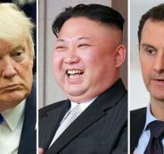 ترامب وبشار الاسد والزعيم الكوري الشمالي