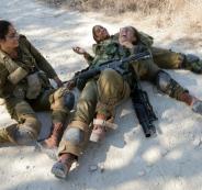 فلسطينيون يلاحقون مجندات اسرائيليات