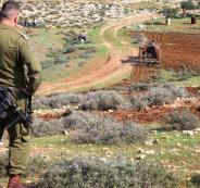 الاستيلاء على اراضي فلسطينية في بلدة الخضر