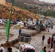 الامطار في مدينة قسنطينة الجزائرية
