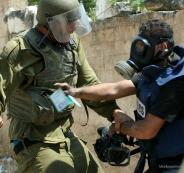الانتهاكات الاسرائيلية بحق الصحفيين الفلسطينيين