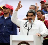 مادورو خلال لقاء جماهيري