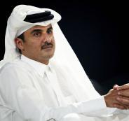 امير دولة قطر وفلسطين