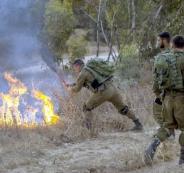 الحرائق المشتعلة في اسرائيل