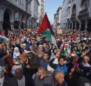 تظاهرة مليونية في العاصمة المغربية الرباط تنديداً بقرار ترامب