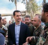 بشار الأسد وسط قواته في الغوطة الشرقية: تغيرون ميزان العالم