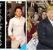 ترامب وطالبين سعوديين