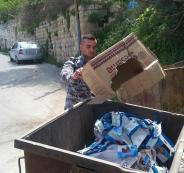 اتلاف مواد تموينية منتهية الصلاحية في نابلس