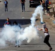 اطلاق قنابل غاز على فلسطينين