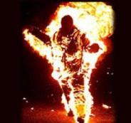 احرق نفسه في خانيونس