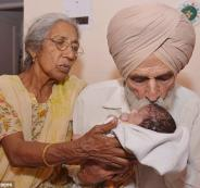 مسنة هندية تنجب طفلا