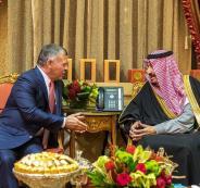 الملك الاردني والملك السعودي
