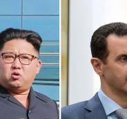 الزعيم الكوري الشمالي وبشار الاسد