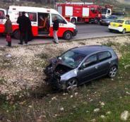 إصابتان بانقلاب مركبة وسط نابلس