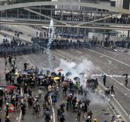 مواجهات في هونغ كونغ