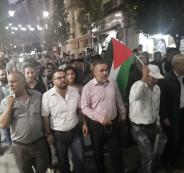 مسيرة في رام الله تضامنا مع غزة
